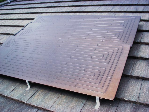 A Thermodynamic Solar Panel – it may look a Klingon bed warmer but it will keep you in free hot showers any time of the day or night
