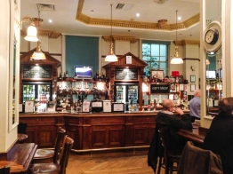 The main pub at Paddington Station is actually very good, only being let down by being over priced.